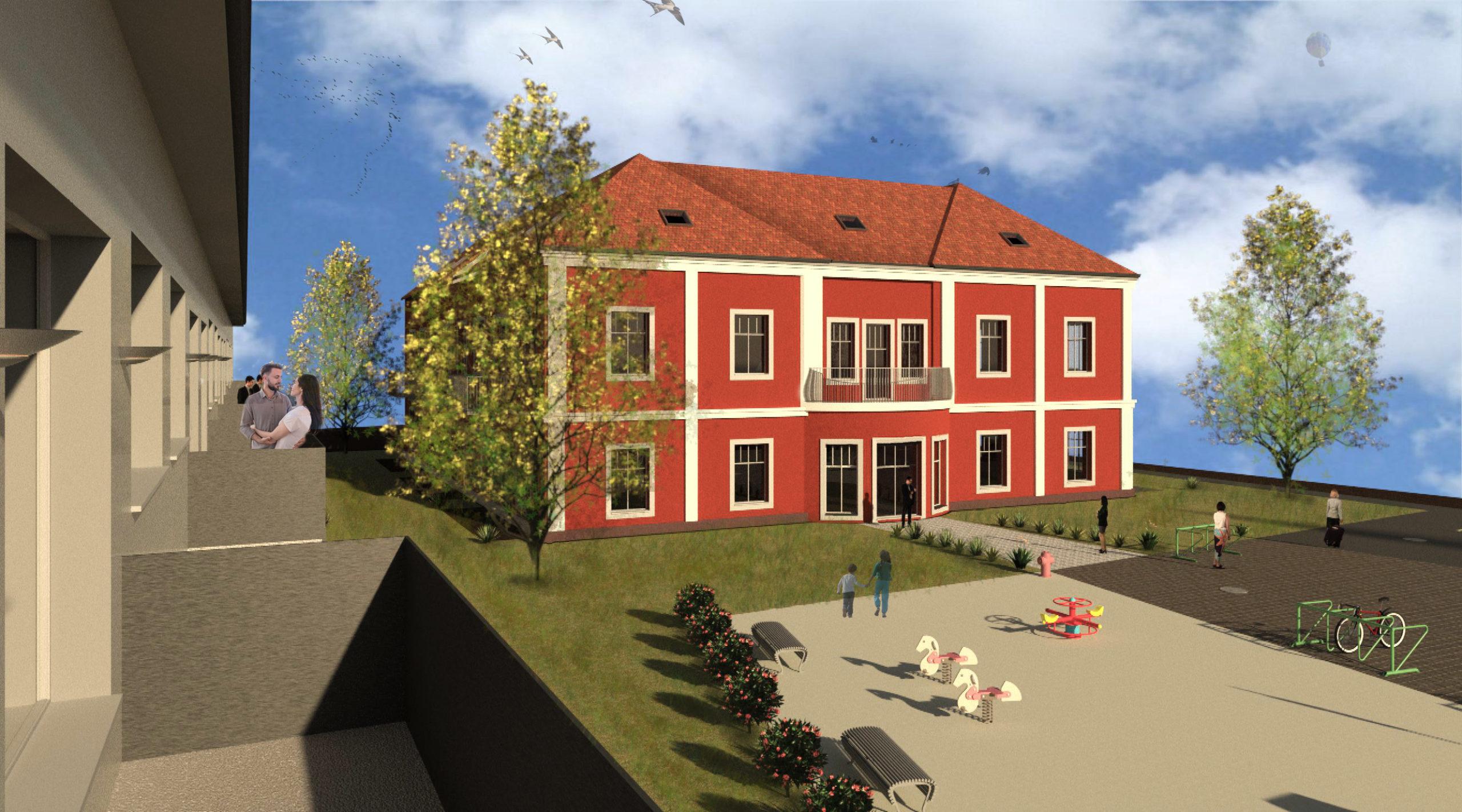 Blick von Haus 2